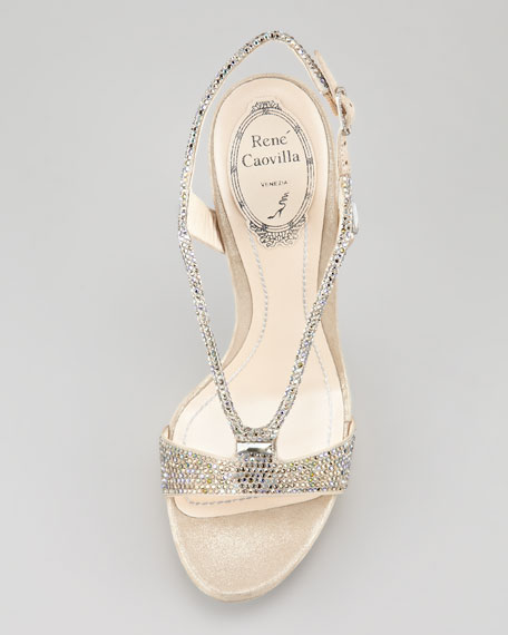 Crystal Wishbone Sandal