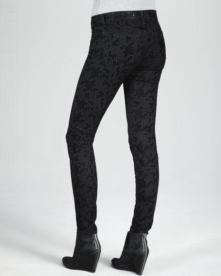 811 Skinny Flocked Jeans
