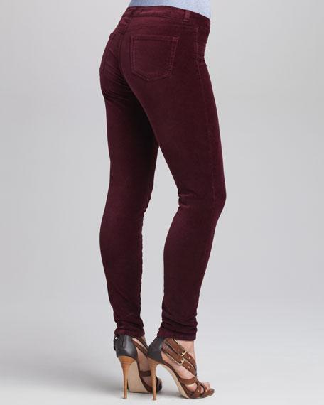 801 Lava Mid-Rise Velvet Skinny Pants