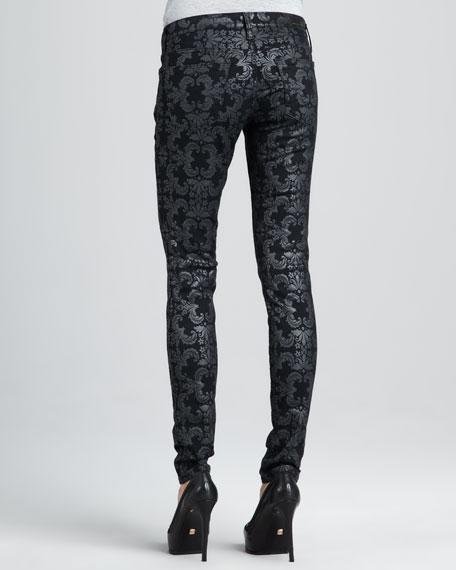 Damask Brocade Legging Jeans