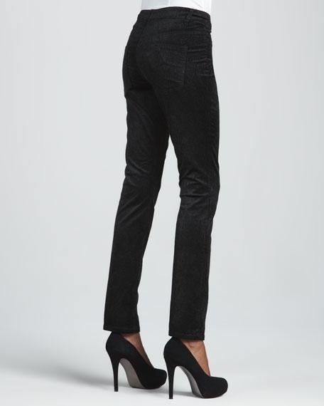 Velveteen Printed Jeans, Cypress Cougar