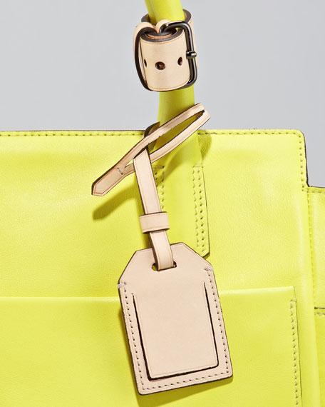 Mini Atlantique Tote Bag, Solar or Acid Pink