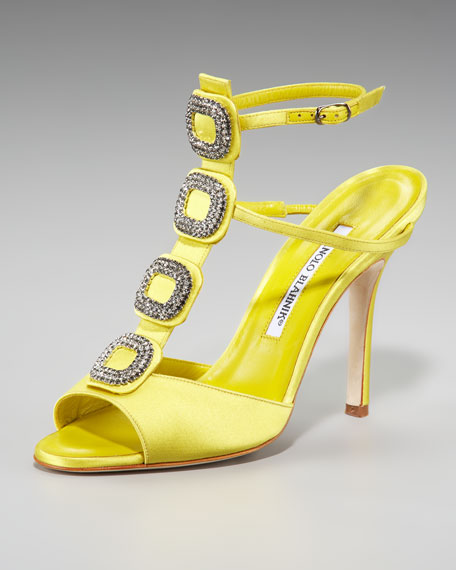 Jeweled Satin Sandal