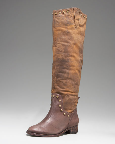 Leather Grommet Boot