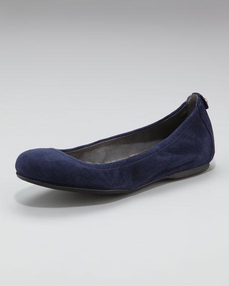 Faux-Fur-Lined Ballerina Flat