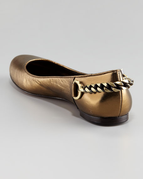 Laura Leather Chain Flat