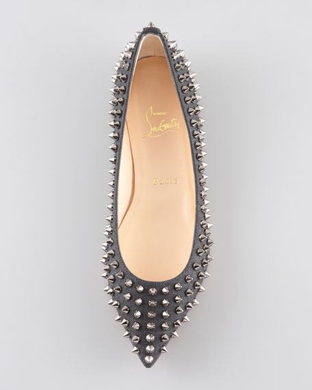 Pigalle Spikes Red Sole Flat