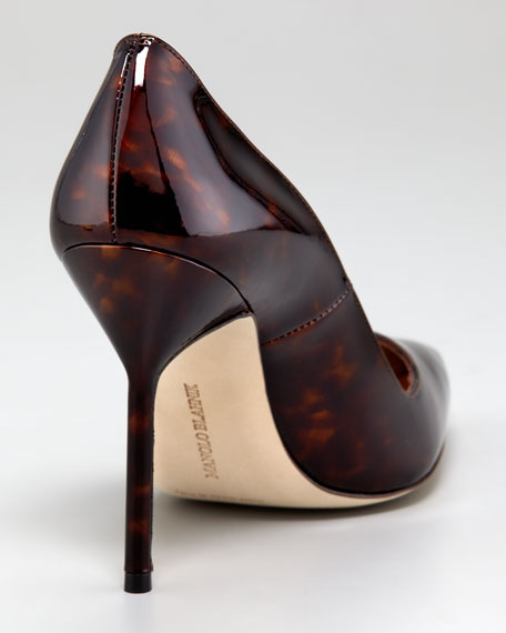 Tortoise Patent Leather Pump