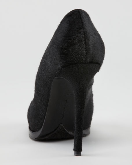 Claudie Calf Hair Platform Pump