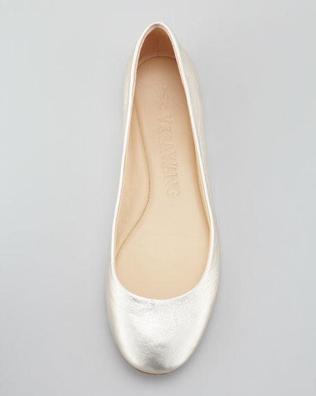 Lara Ballerina Flat, Platinum