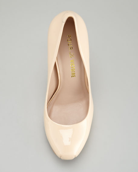 Irisa 2 Patent Leather Pump, Nude