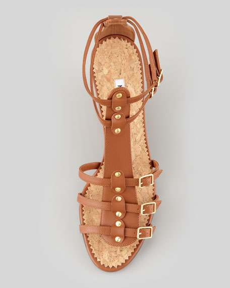 Axez Wedge Gladiator Sandal, Luggage