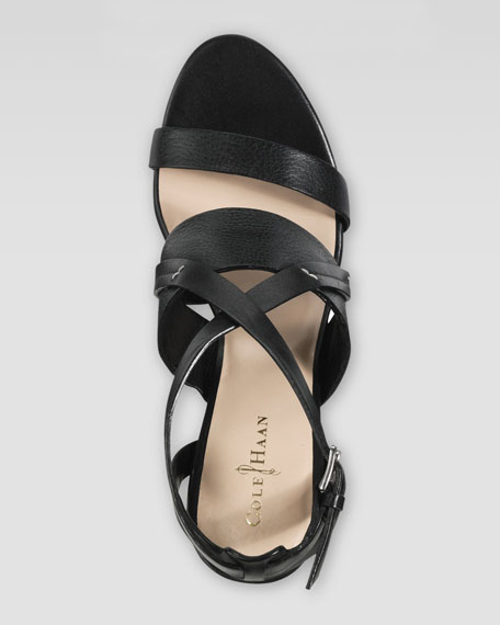 Pelham Wedge Sandal, Black