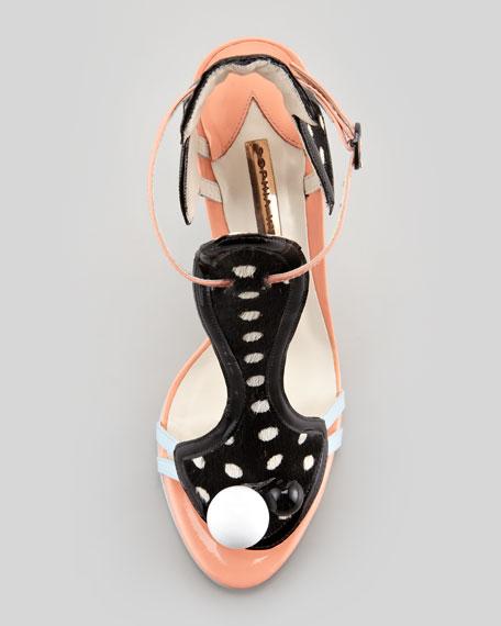 Mollie Polka-Dot T-Strap Sandal