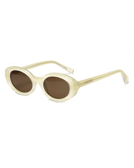Image 1 of 3: McKinley Oval Acetate Sunglasses