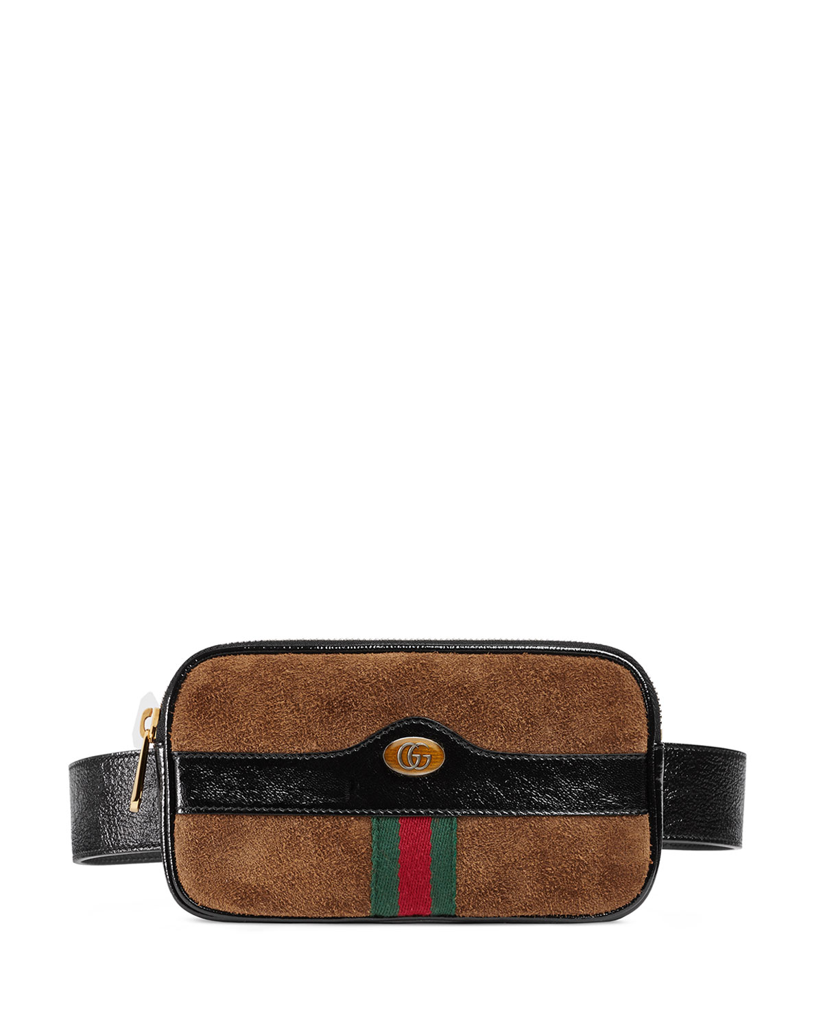 Gucci Ophidia Mini Suede Phone Belt Bag   Neiman Marcus 6fe4ab0aed