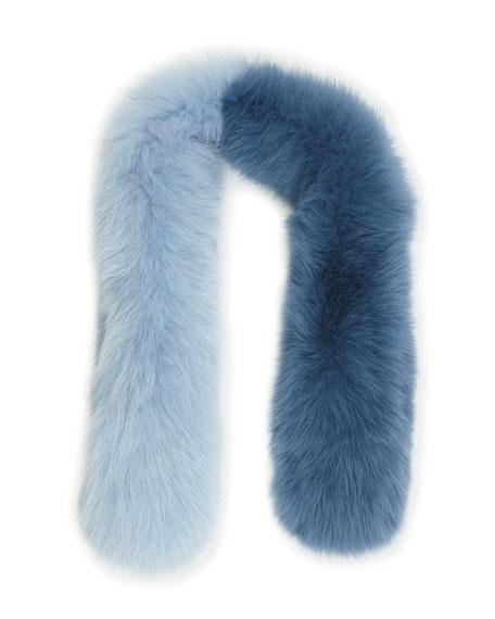 Charlotte Simone Polly Pop Two-Tone Fur Slip-Through Scarf