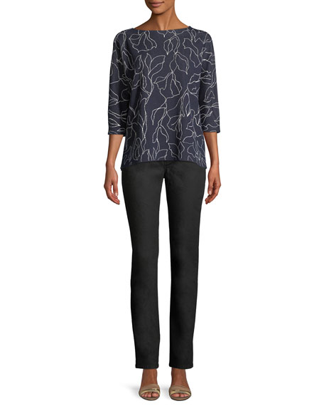 Thompson Yarn-Dyed Denim Slim-Leg Jeans