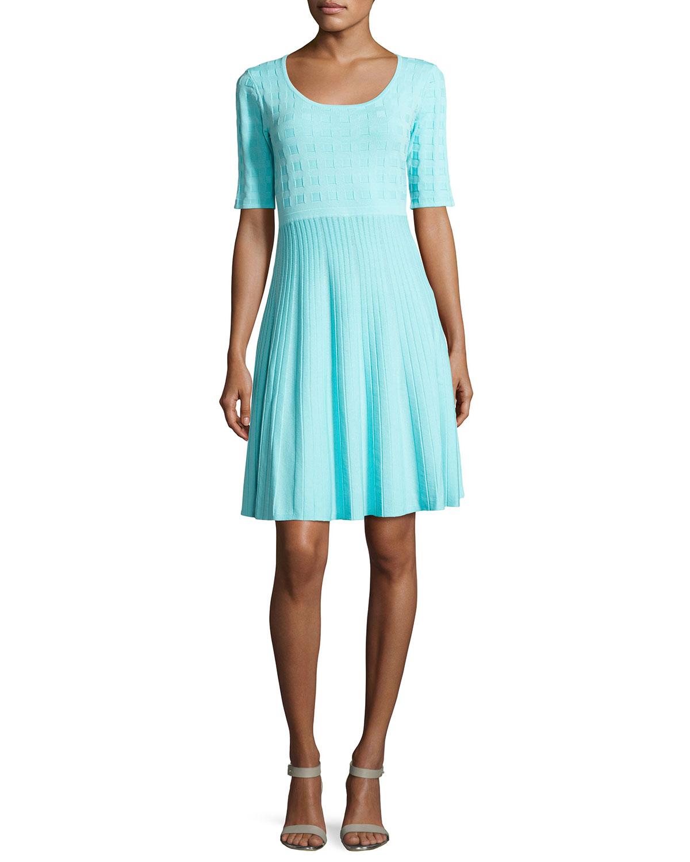 7fc7c68bc19 Carmen by Carmen Marc Valvo Estelle 3 4-Sleeve Twirl Dress