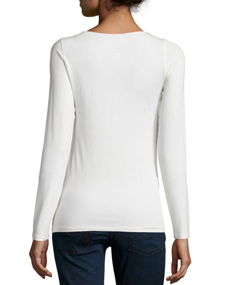 Image 3 of 5: Majestic Filatures Soft Touch Marrow-Edge Long-Sleeve Top