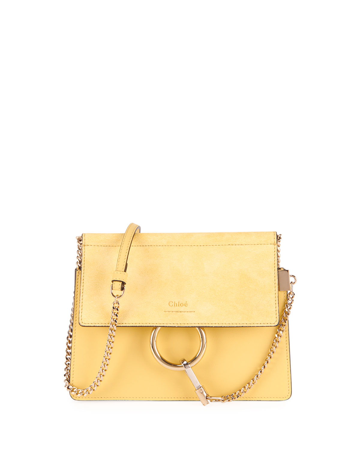 Chloe Faye Small Suede Leather Shoulder Bag  70b86116a083c