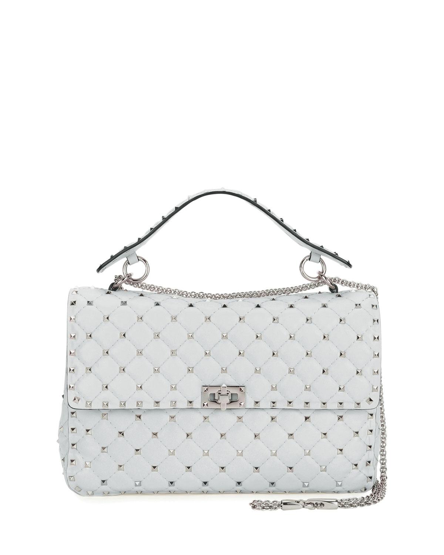 Valentino Garavani Rockstud Spike Medium Quilted Shoulder Bag ... 27b6264ce10bf