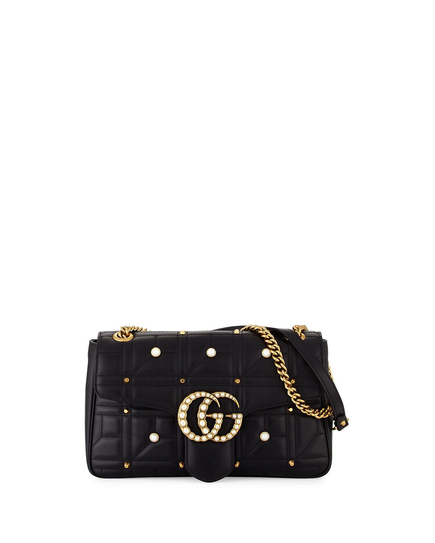 bdc64cb573e85e Gucci GG Marmont Medium Pearly Shoulder Bag | Neiman Marcus