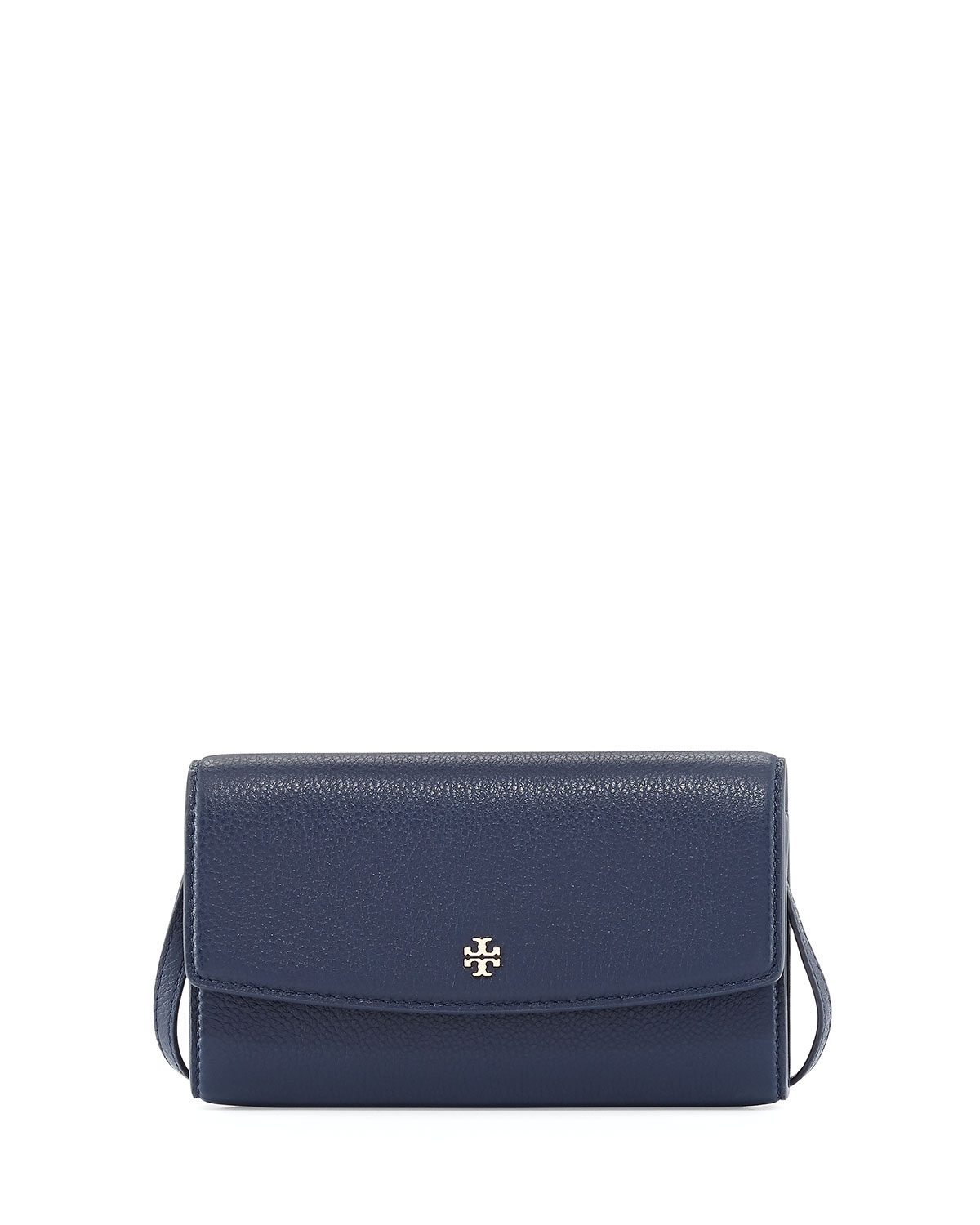 c8a32b8e550 Tory Burch Robinson Pebbled Leather Wallet on Crossbody Strap ...