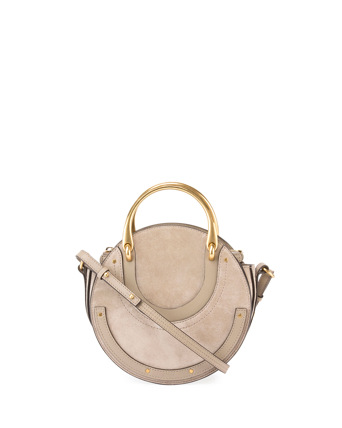 Pixie Small Round Double Handle Shoulder Bag