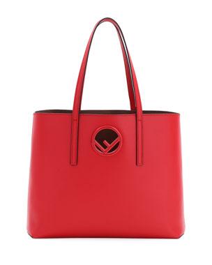 cbddf628eb Fendi F Logo Calf Leather Shopping Tote Bag from Neiman Marcus - Styhunt