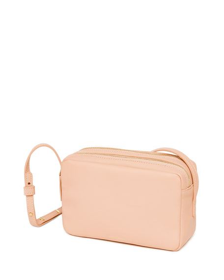 Mansur Gavriel Double-Zip Leather Crossbody Bag