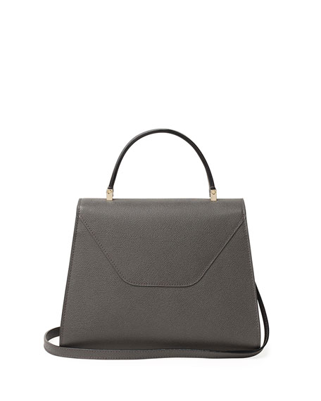 Image 2 of 4: Valextra Iside Medium Leather Top-Handle Bag