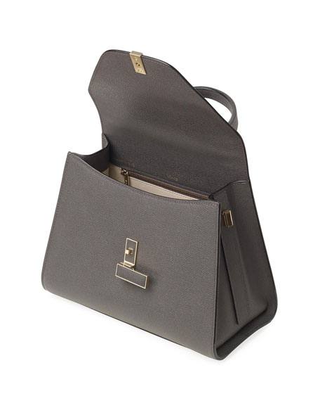 Image 4 of 4: Valextra Iside Medium Leather Top-Handle Bag