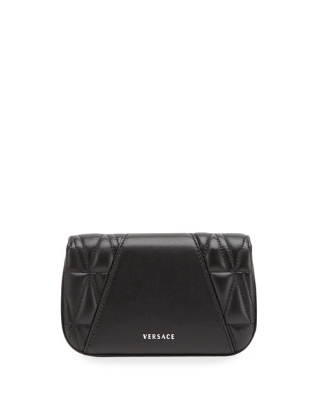 Image 5 of 5: Versace Quilted Napa Shoulder Bag