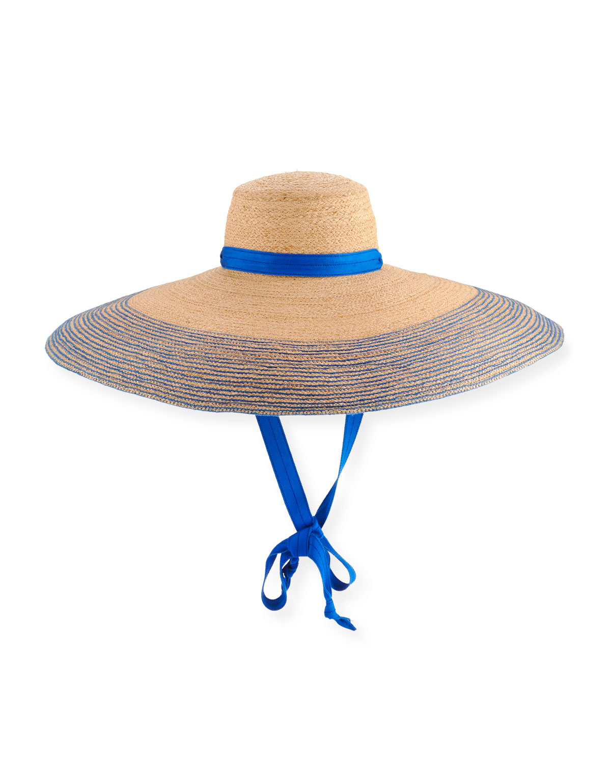 475d6794 Lola Hats Nomad Wide-Brim Raffia Sun Hat with Ribbon | Neiman Marcus