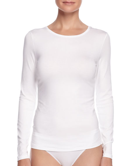 Image 1 of 1: Soft Touch Long-Sleeve Top