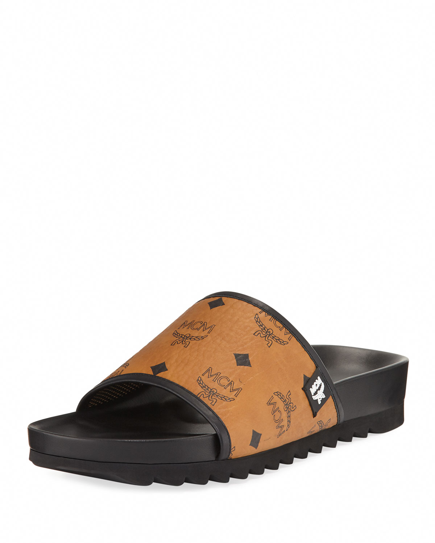 9477c51bee0c MCM Men s Visetos Slide Sandals