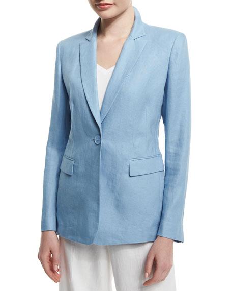 Lafayette 148 New York Mackenzie One-Button Jacket