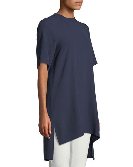 Silk Georgette High-Neck Long Tunic
