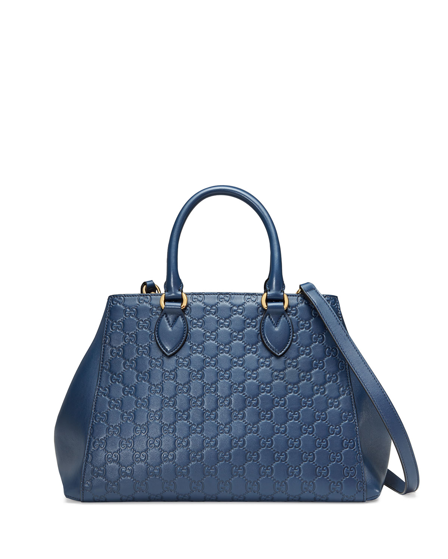 Gucci Signature Top Handle Tote Bag