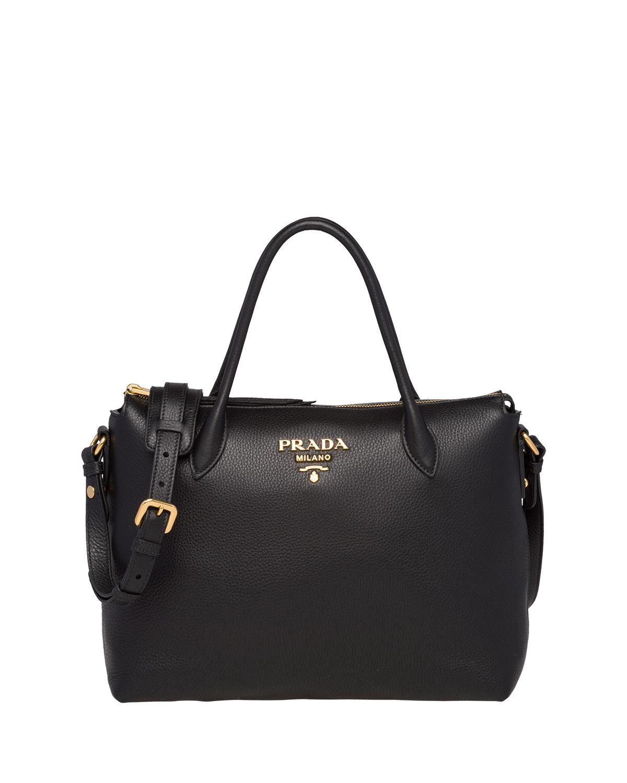 Prada Daino Medium Leather Tote Bag  98e445662