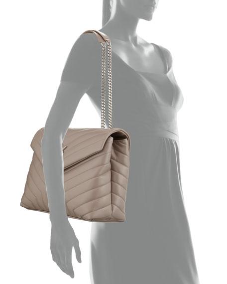 Saint Laurent Loulou Monogram YSL Medium Chain Shoulder Bag