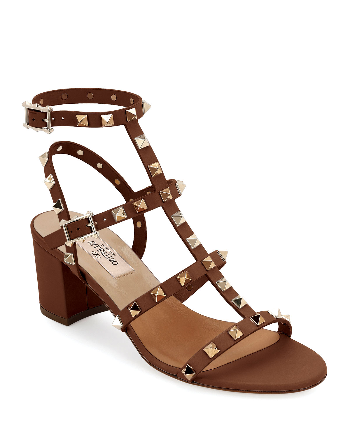 e9c87a415bdd Valentino Garavani Rockstud Leather 60mm City Sandals