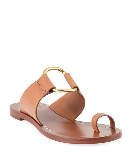 d83e7c3c7 Tory Burch Brannan Flat Studded Leather Slide Sandals