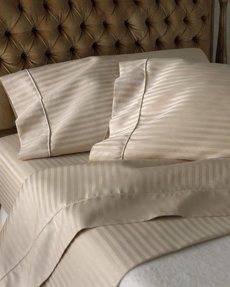 SFERRA Queen 600 Thread Count Pima Stripe Sheet Set