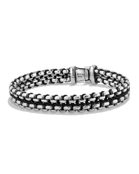 David Yurman Men's 12mm Woven Box Chain Bracelet