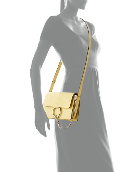 Image 4 of 5: Chloe Faye Small Suede/Leather Shoulder Bag