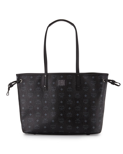 Custom Shopper Project Visetos Reversible Tote Bag, Black