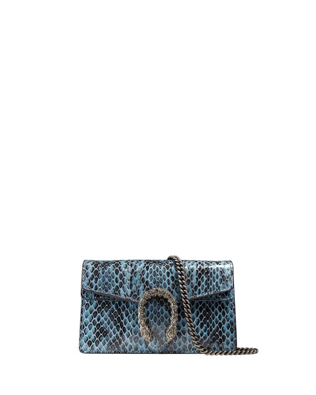 434617d3ca9309 Gucci Dionysus Snakeskin Super Mini Bag | Neiman Marcus