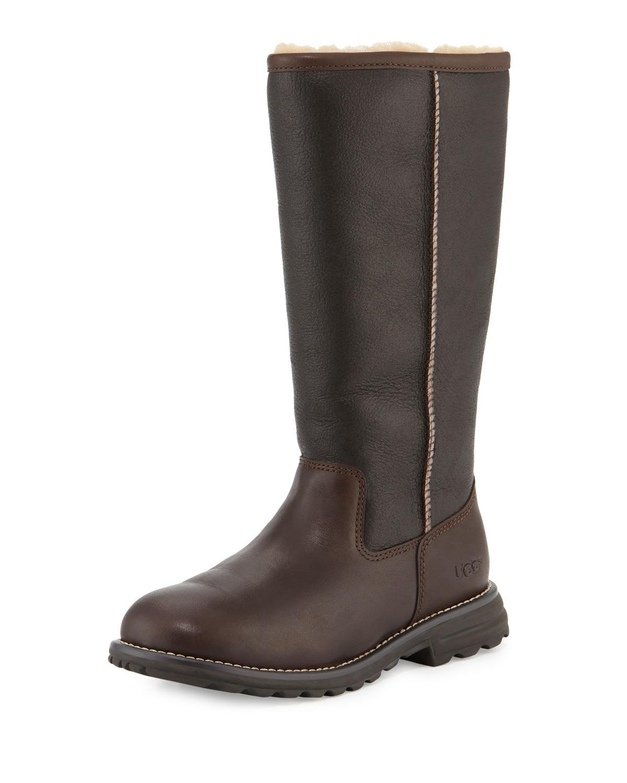 UGG Brooks Tall Sheepskin Leather Boot